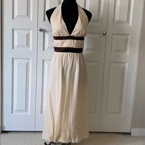BCBG silk halter semi-formal dress